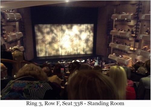 Ring 3, Row F, Seat 338 - Standing Room