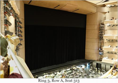 Ring 3, Row A, Seat 313