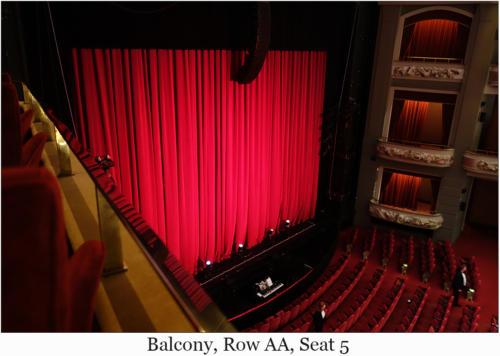 Balcony, Row AA, Seat 5