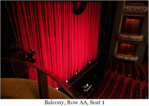 Balcony,Row AA, Seat 1