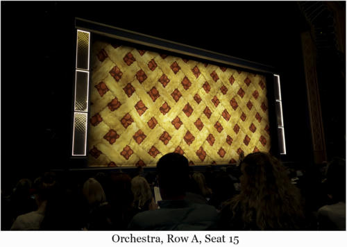 Orchestra, Row A, Seat 15