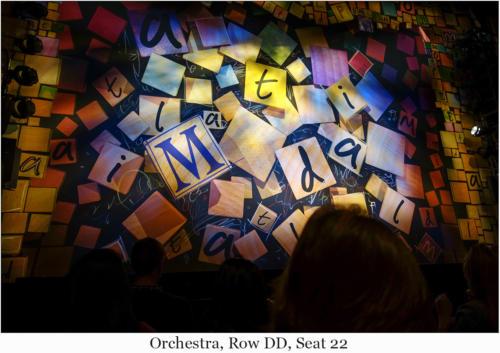 Orchestra, Row DD, Seat 22