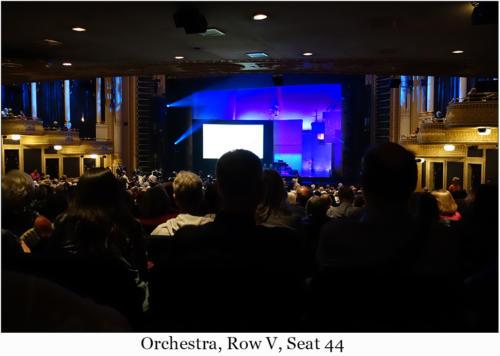 Orchestra, Row V, Seat 44