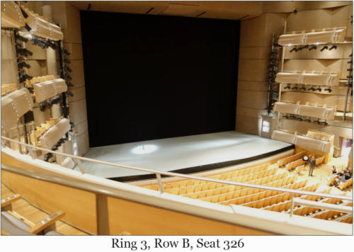 Ring 3, Row B, Seat 326