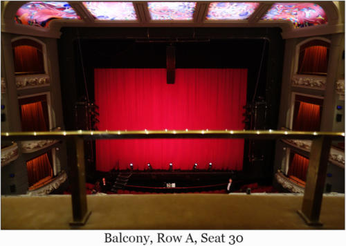 Balcony, Row A, Seat 30