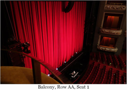 Balcony, Row AA, Seat 1