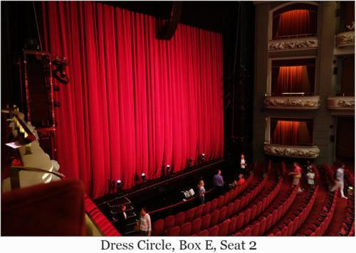 Dress Circle, Box E, Seat 2