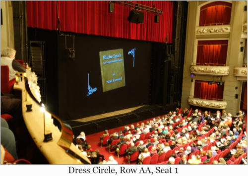 Dress Circle, Row AA, Seat 1