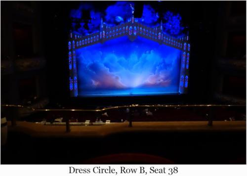 Dress Circle, Row B, Seat 38