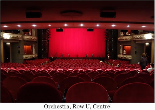 Orchestra, Row U, Centre