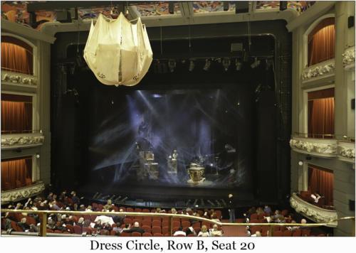Dress Circle, Row B, Seat 20