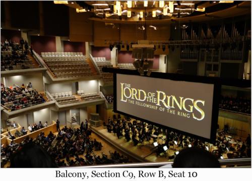 Balcony, Section C9, Row B, Seat 10