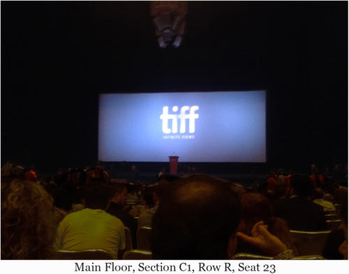 Main Floor, Section C1, Row R, Seat 23