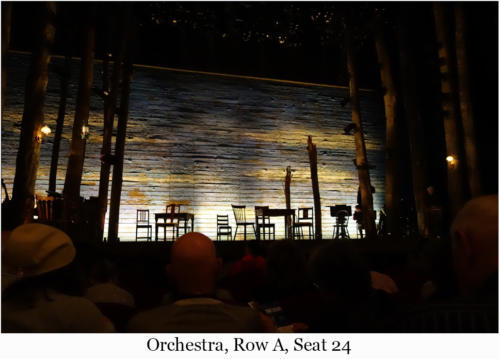 Orchestra, Row A, Seat 24