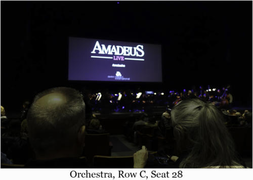 Orchestra, Row C, Seat 28