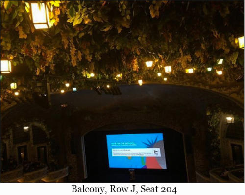 Balcony, Row J, Seat 204