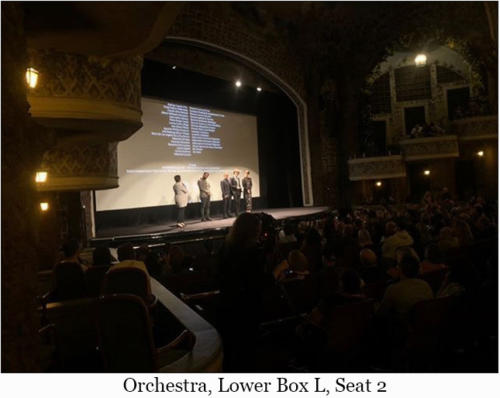 Orchestra, Lower Box L, Seat 2