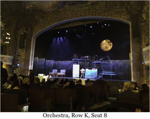 Orchestra, Row K, Seat 8
